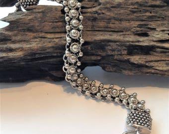 Handcrafted vintage sterling silver bali bracelet