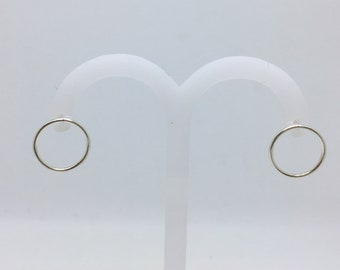 EARRINGS 925 sterling silver circles