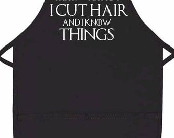 Game of Thrones inspired hair dresser apron/tyrion lanister/hair stylist/apron/GOT/work apron/wedding gift/mom/beautician