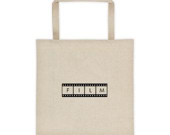 FILM Tote Bag, Tote Bag, Yoga Bag, School Bag, Grocery Bag, Boho bag, Totes, Gifts for her