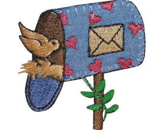 ID 3114 Mail Box Bird House Patch Home Nest Craft Embroidered Iron On Applique