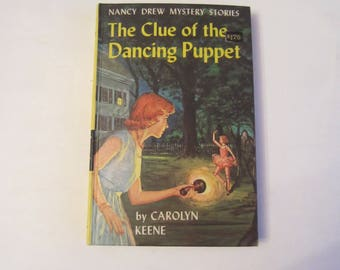 Nancy Drew The Clue of the Dancing Puppet, Nancy Drew books, Nancy Drew 1970s book, vintage book, Nancy Drew book 39, Nancy Drew