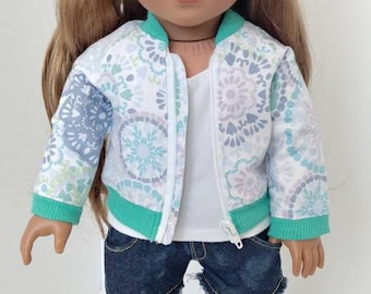 "18 inch doll clothes. Fits like American girl doll clothing. 18"" doll clothing. Doll aviator jacket"
