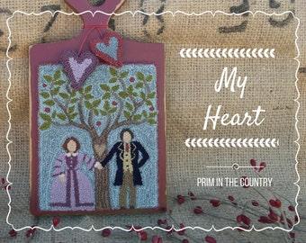 My Heart Punch Needle Pattern