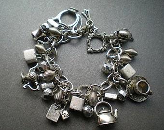 Tea time - charm bracelet