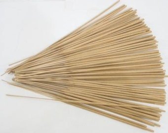 "Bulk UNSCENTED INCENSE Sticks Natural Uncolored 11"" Punks Choose Quantity 100/500/1000/ Wholesale Lots DIY add Perfume Oils to Scent"