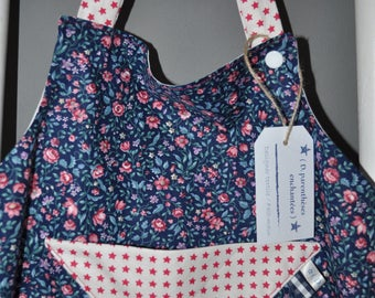 The enchanted blue kids and floral apron