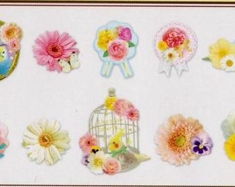 Bird,Flowers,Cage Japan kawaii 78pcs stickers flake/GS371