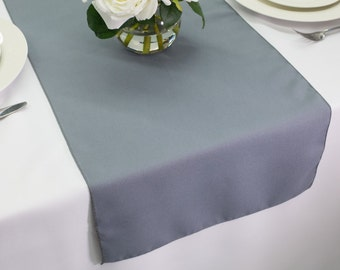Gray Table Runner Polyester | Wedding Table Runners