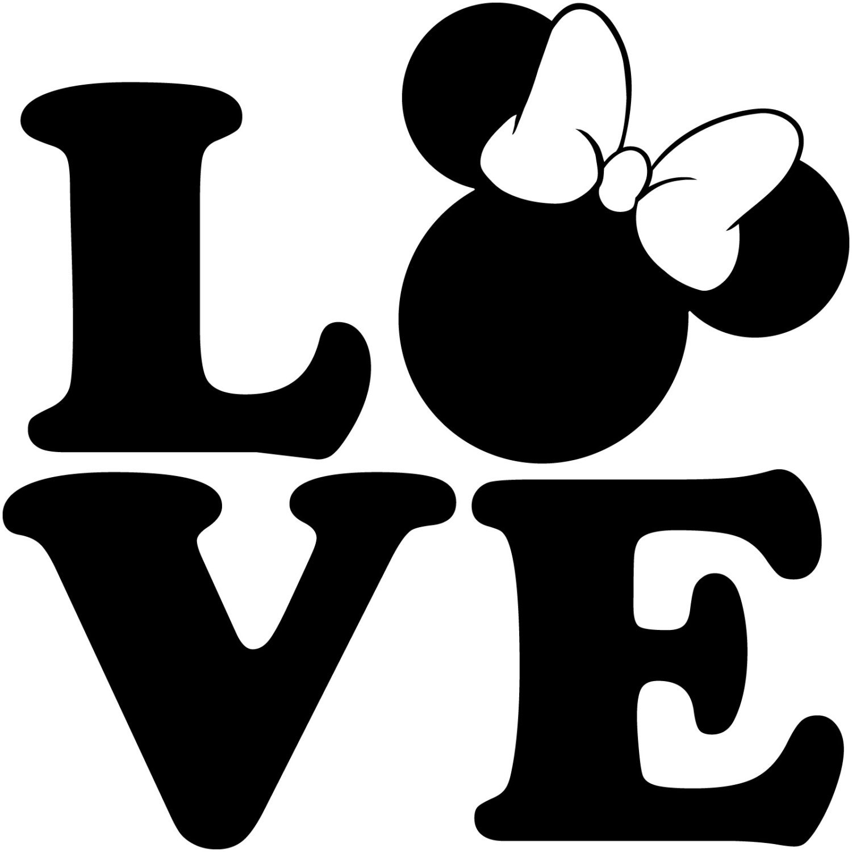 Love minnie mouse head walt disney disneyland world decal zoom biocorpaavc