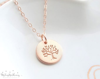 Family Tree Necklace Personalized Jewelry Gift Tree of Life Necklace Rose Gold necklace Mothers Necklace Tree of life jewelry