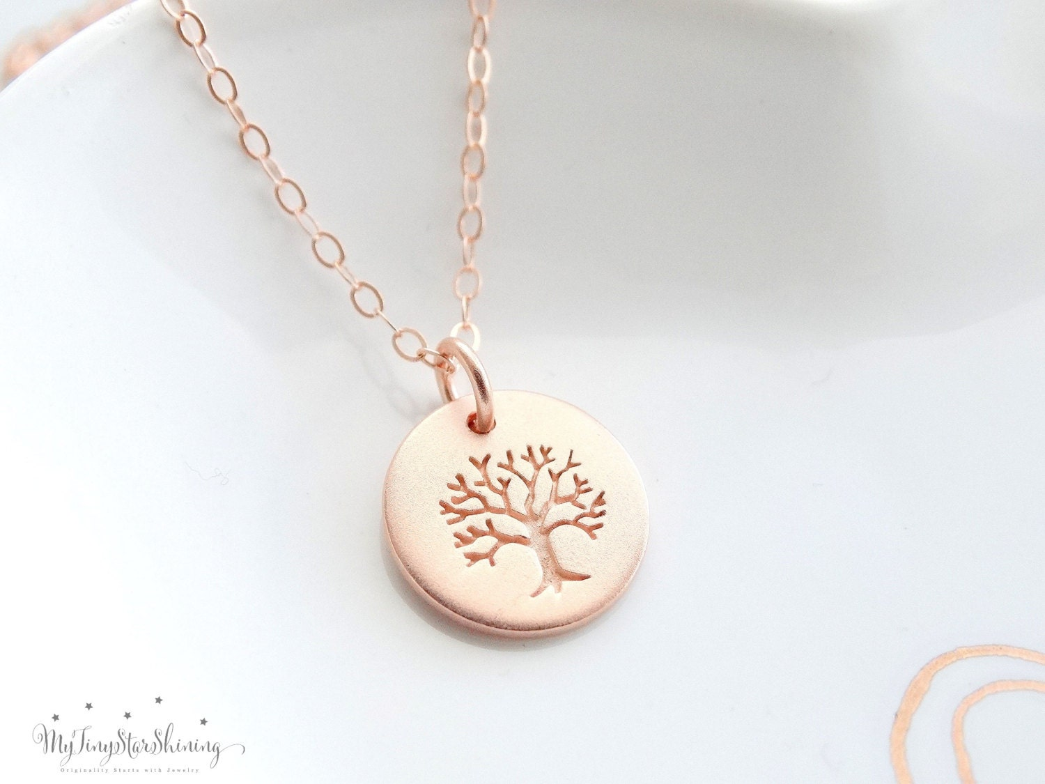 Favorite Family Tree Necklace Personalized Jewelry Gift Tree of Life  NT64