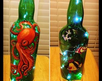 Octopus Wine Bottle Lantern