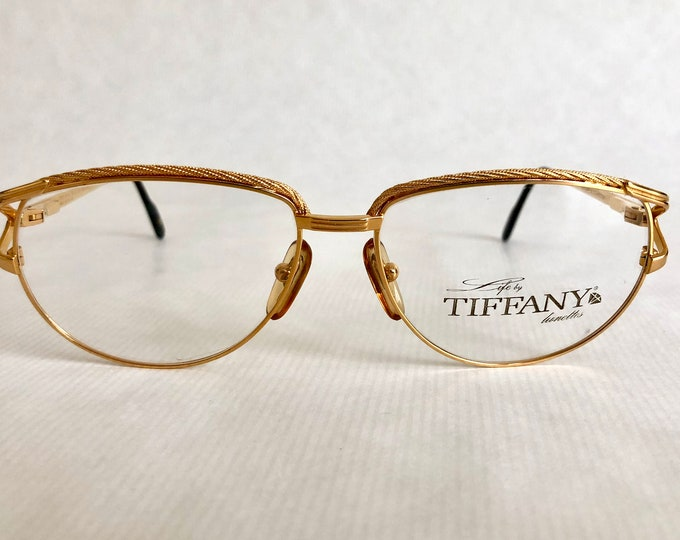 Tiffany Lunettes T312 Vintage Glasses - 23Kt Gold Plated - New Old Stock