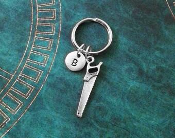 Saw Keychain VERY SMALL Handsaw Keychain Personalized Father's Day Keychain Tool Keychain Dad Keychain Husband Keychain Carpenter Keychain