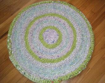 Lavender and Lime Green Rug\Crochet Lime Green Rag Rugs