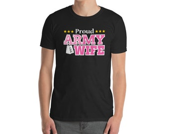 Proud Army Wife T Shirt USA Military Wife Shirt Womens, patriotic proud army wife tee, patriotic army shirt, army apparel