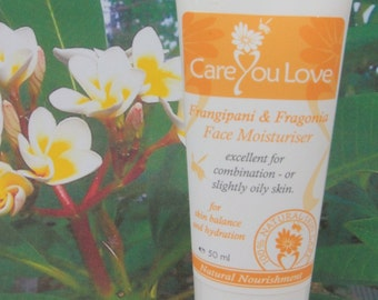 Face Moisturiser - Fragonia & Frangipani - restores balance in light oily and combination skin - 50 ml