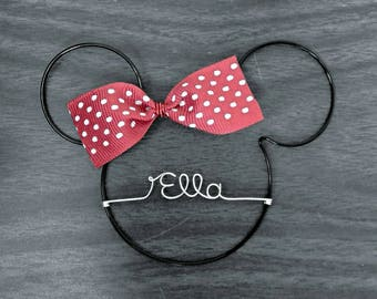 Minnie Mouse Personalized Ornament | Minnie Ornament with Name | Minnie Mouse Decor