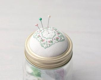 Pin Cushion Mason Jar Pin Cushion, Pin Cushion Jar Kilner jar