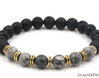 Icelandic Bracelet-Lava Rocks-Bracelet-Lava beads