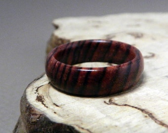 Wood Ring, Cocobolo Ring, Wooden Ring, Custom Made Ring, Mens Ring, Womens Ring, Wedding Ring, Eco Friendly Ring, Wooden Wedding Ring