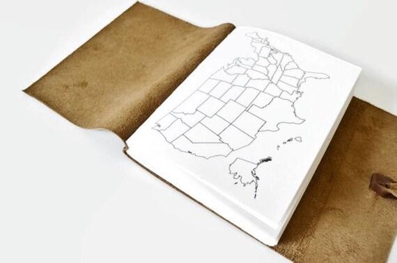 Färbung Journal Karte Karte Orte die ich habe Journal Karte