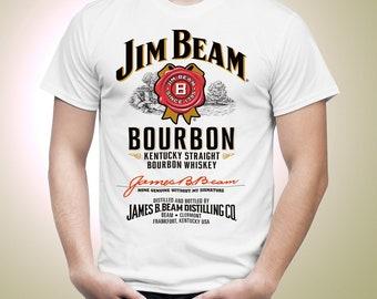 Jim Beam Bourbon Bottle Label Official Men T-shirt