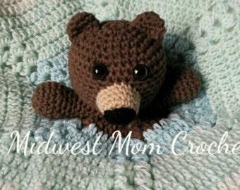 Crochet Teddy Bear Lovey
