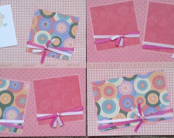 Baby girl two pre-made scrapbook pages by Juliet