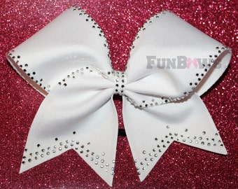 Gorgeous and classy Rhinestone Allstar Cheer Bow by FunBows !