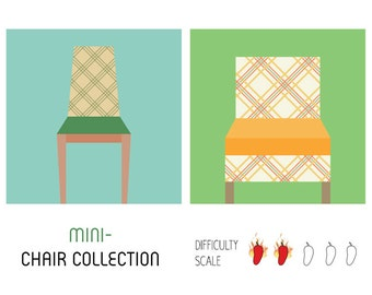 Mini-Chair Collection paper pieced quilt pattern in PDF