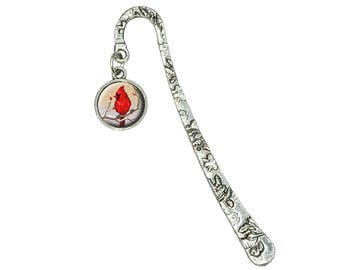 Cardinal In Winter Book Bookmark With Antiqued Charm