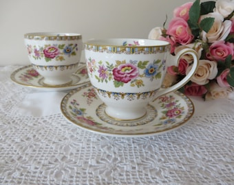 Royal Grafton vintage 1950's coffee cup and saucer, Malvern Pattern, Cup of coffee, Espresso cup,Morning coffee