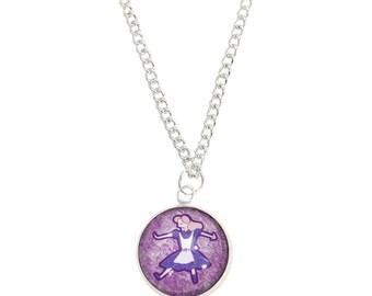 Alice Necklace - Wonderland Jewelry - Alice in Wonderland - 16 Inches