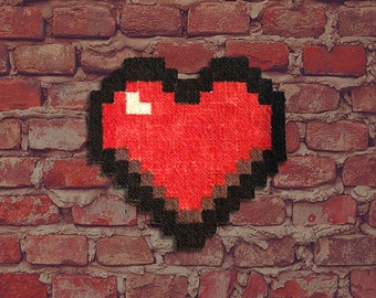 LOVE - Rugs 'Heart' Pixel Art - hand painted by Le Marcassin wing