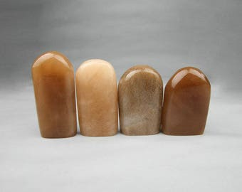 Free Shipping Chinese Seal Stamp Engraving 2.4x1.2cm About - Irregular Form - Yellow Brown - 10 Pcs Set - Seal Stamp Stone Soapstone 0017