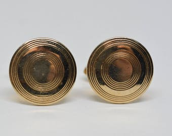 Swank gold tone cuff links