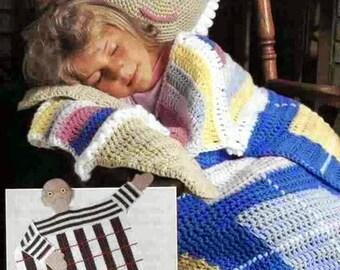 CROCHET PATTERN/Crochet Blanket Pattern/Afghans  Grandma and Grandpa/Instant PDF Download –A265