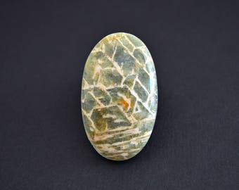 Beryl  natural stone cabochon  42 x 26 x 6,5 mm