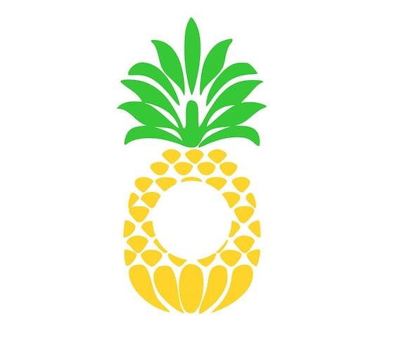 Pineapple Monogram Frame Svg Cut File