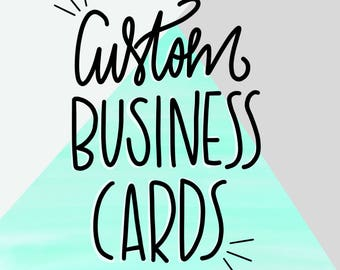 Custom Business Card Listing