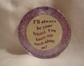 friendship decor, magnet, friend, friendship, friend magnet, friend kitchen decor, kitchen, kitchen decor,kitchen refrig magnet,resin (253)