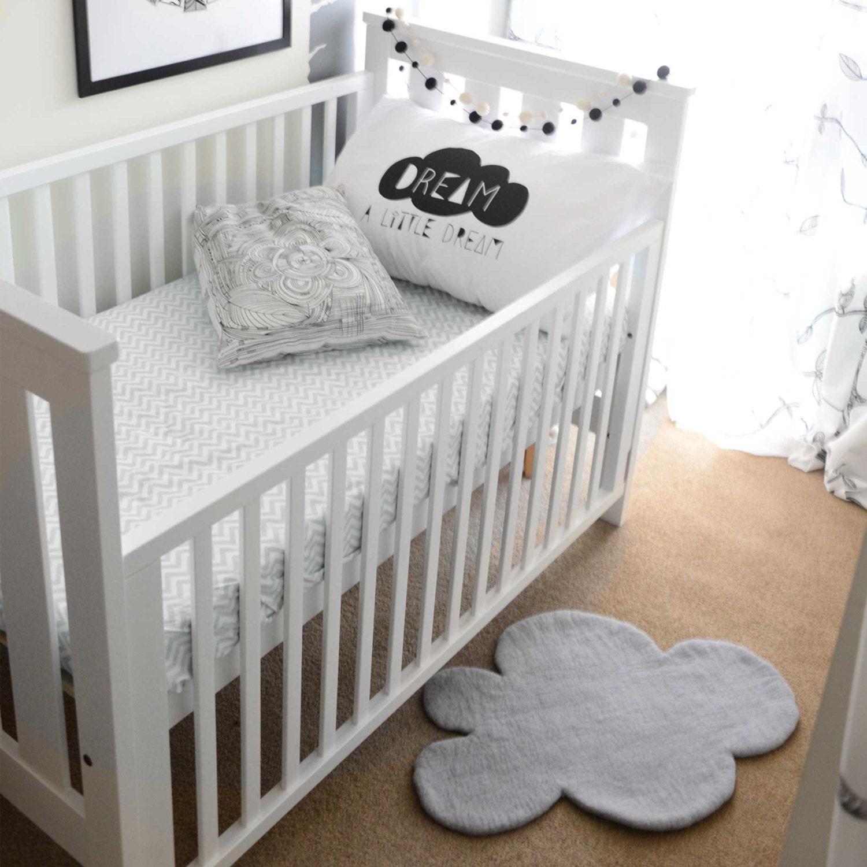 CLOUD-Teppich grau Filz Teppich Kinderzimmer Teppich grau