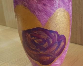 Great Mug pink and purple rose