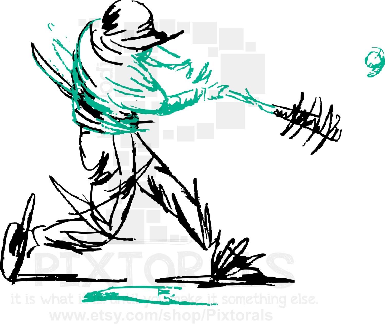 baseball softball clip art of batter s swing png rh etsy com  screen printing clip art software