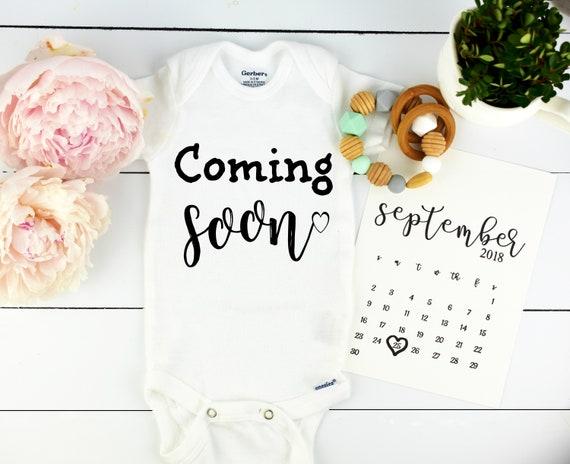 Coming Soon / Baby Announcement Onesie