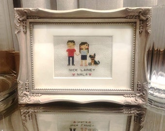Custom Family Cross Stitch Portraits