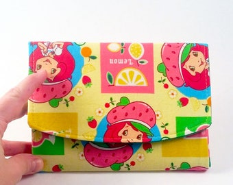 Women's bifold wallet, slim clutch wallet, handmade- fabric cash wallet- woman's credit card wallet, checkbook wallet