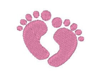 Baby Feet Embroidery Design, Machine Embroidery Pattern, Baby Embroidery Design, Mini Baby Feet Embroidery
